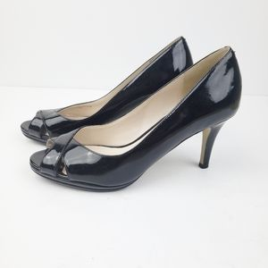 Cole Haan Patened Leather Wedge Pump sz 6.5B